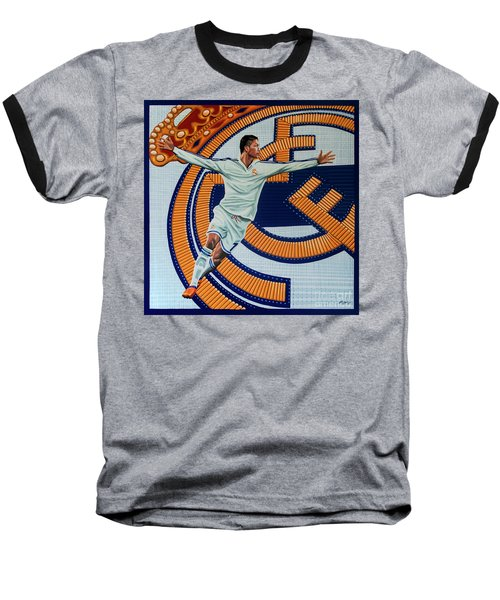 Real Madrid Painting Baseball T-Shirt by Paul Meijering