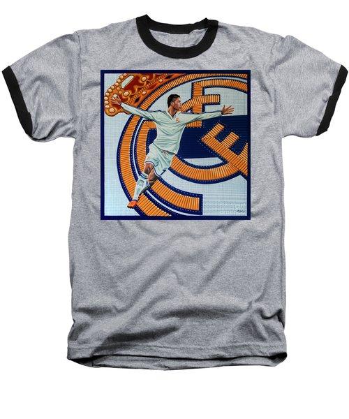 Real Madrid Painting Baseball T-Shirt