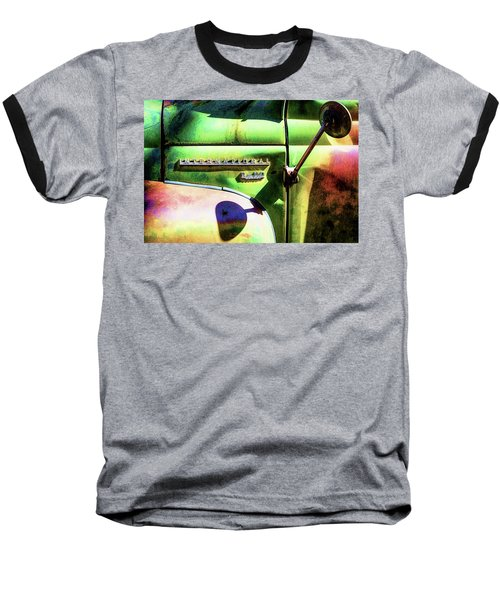 Rear View Mirror Baseball T-Shirt by Robert FERD Frank