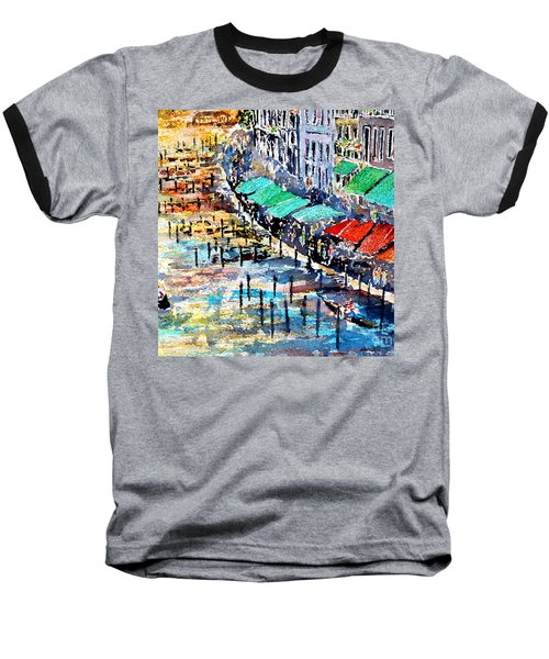 Baseball T-Shirt featuring the painting Recalling Venice 02 by Alfred Motzer