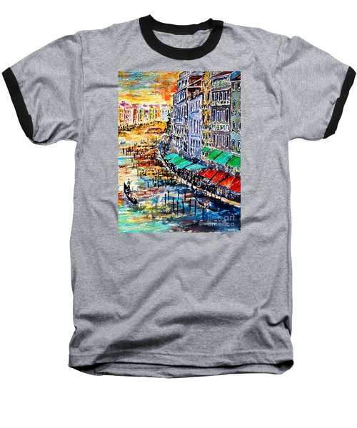 Baseball T-Shirt featuring the painting Recalling Venice 03 by Alfred Motzer