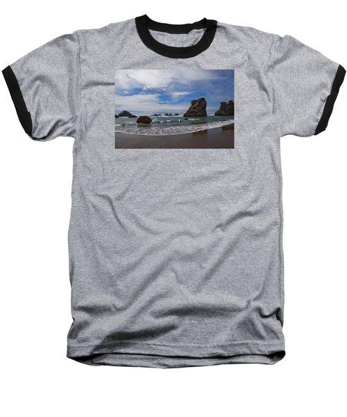 Receding Wave Baseball T-Shirt by Adria Trail