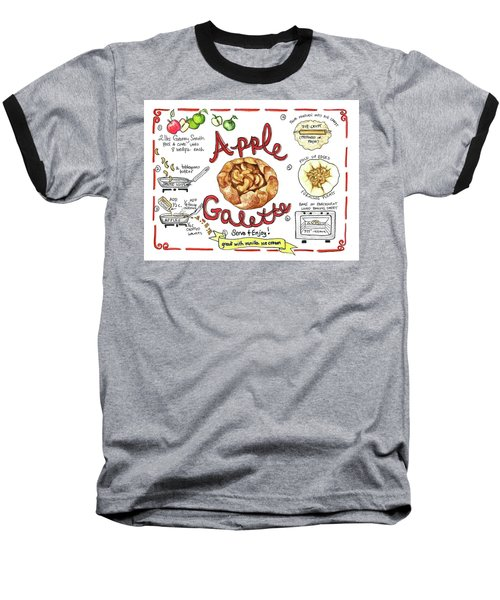 Recipe- Apple Galette Baseball T-Shirt