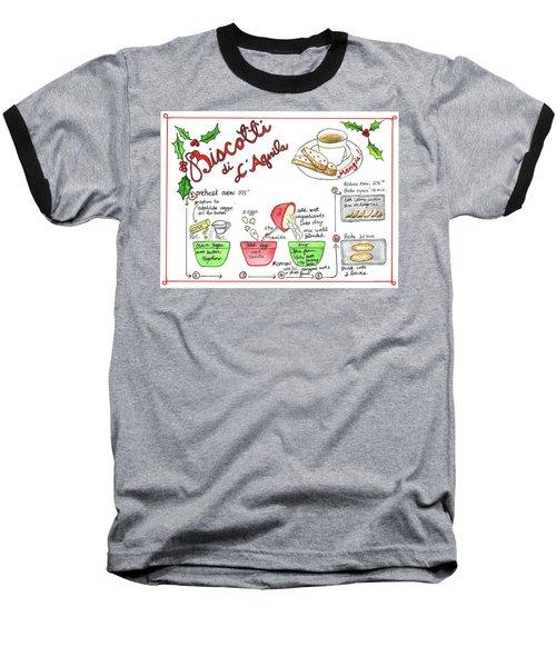 Recipe Biscotti Baseball T-Shirt