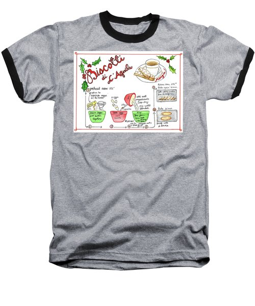 Recipe Biscotti Baseball T-Shirt