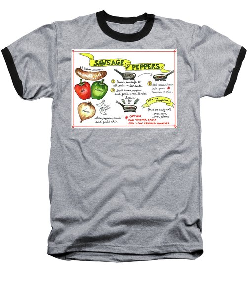 Recipe Sausage And Peppers Baseball T-Shirt