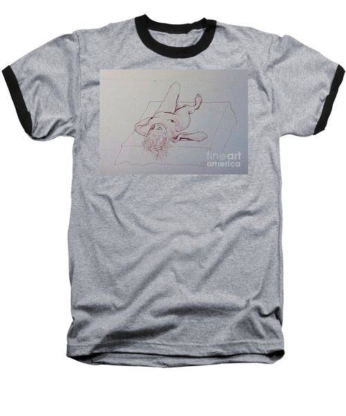 Reclining Nude Lady Baseball T-Shirt
