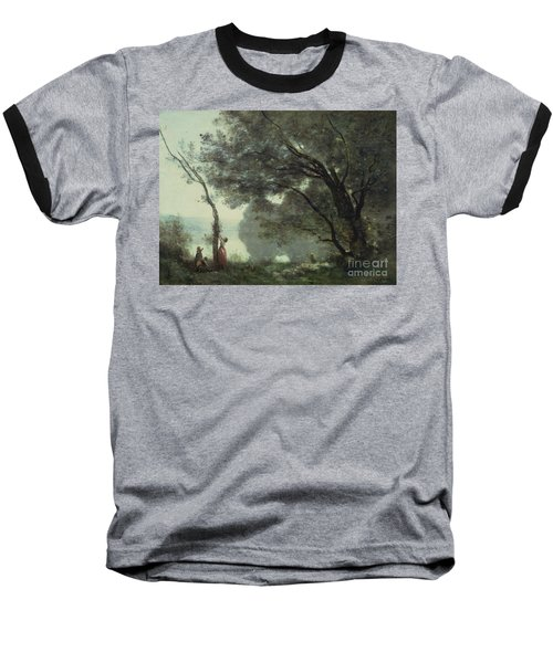 Recollections Of Mortefontaine Baseball T-Shirt by Jean Baptiste Corot