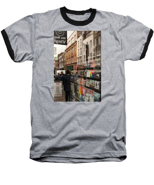 Records Store Windows Reflection  Baseball T-Shirt