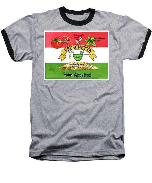 Recpe-bruschetta Baseball T-Shirt