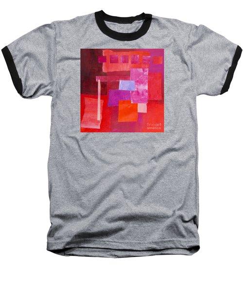 Baseball T-Shirt featuring the mixed media Red 2 by Elena Nosyreva