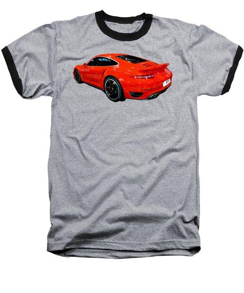 Red 911 Baseball T-Shirt