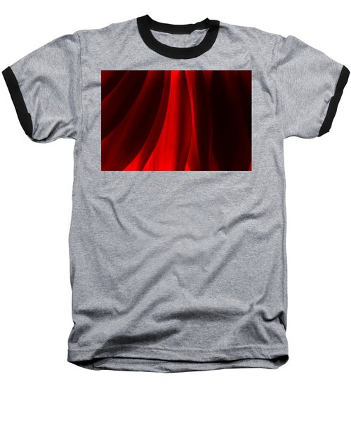 Red Abstract Of Chrysanthemum Wildflower Baseball T-Shirt