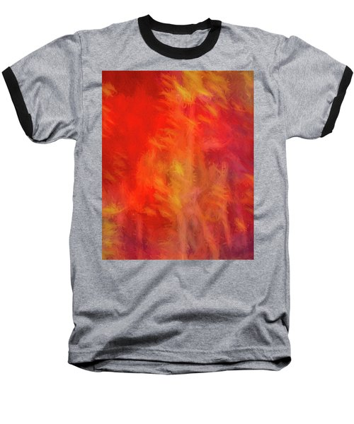 Red Abstract Baseball T-Shirt
