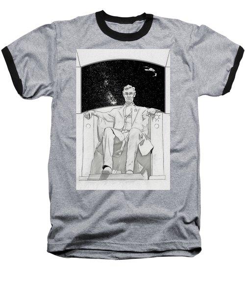 Baseball T-Shirt featuring the drawing Red Alert by John Haldane