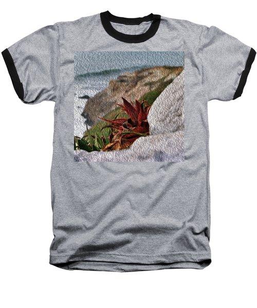 Red Aloe Vera By The Sea Baseball T-Shirt