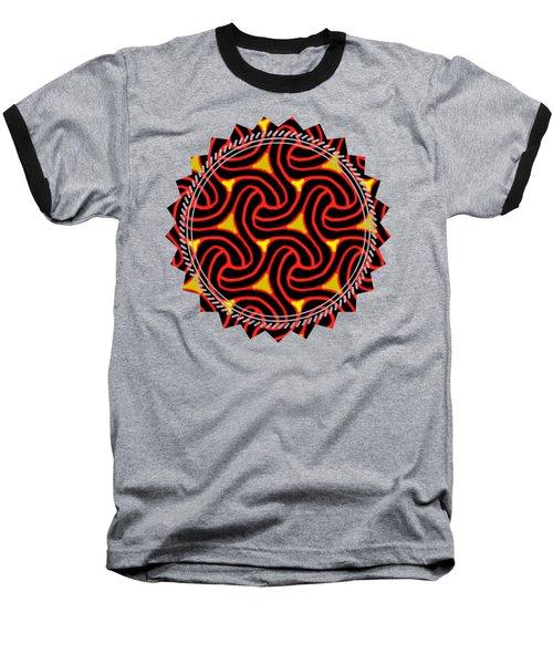 Red And Black Knot Pattern Baseball T-Shirt
