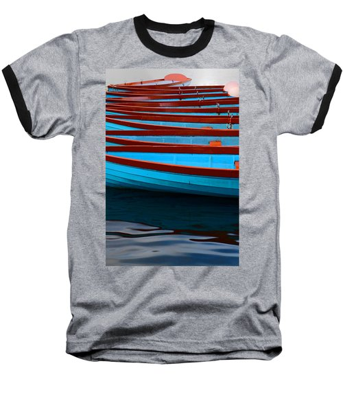 Red And Blue Paddle Boats Baseball T-Shirt