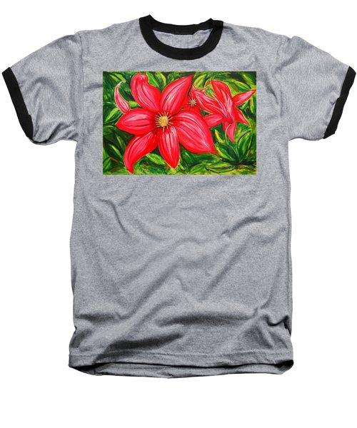 Red And Green Baseball T-Shirt