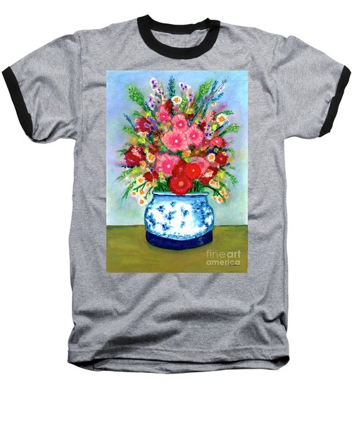 Red And Pink Rose Flower Garden Still Life Painting 615 Baseball T-Shirt