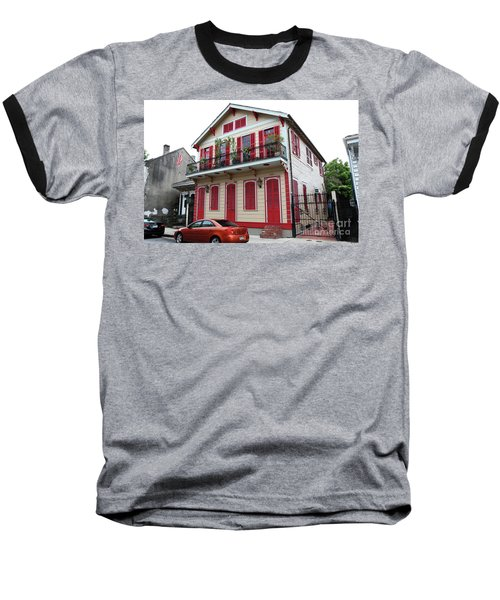 Baseball T-Shirt featuring the photograph Red And Tan House by Steven Spak