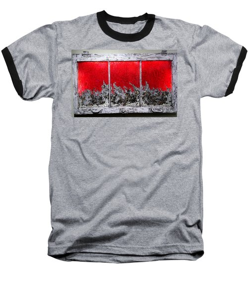 Red And White Window # 1 Baseball T-Shirt