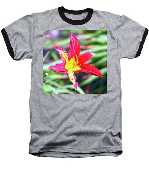 Red And Yellow Orchid Baseball T-Shirt