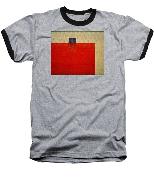 Red And Yellow Wall Baseball T-Shirt