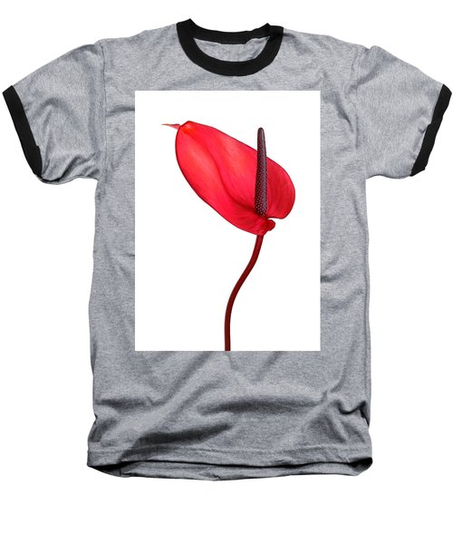 Red Anthrium Baseball T-Shirt
