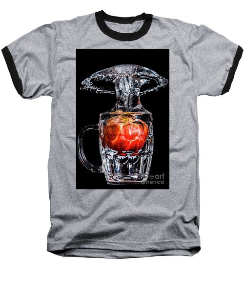 Red Apple Splash Baseball T-Shirt