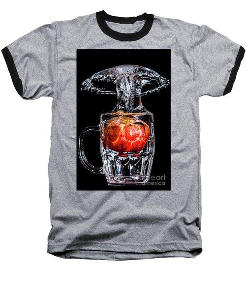 Baseball T-Shirt featuring the photograph Red Apple Splash by Ray Shiu