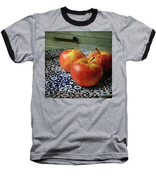 Red Apples Baseball T-Shirt