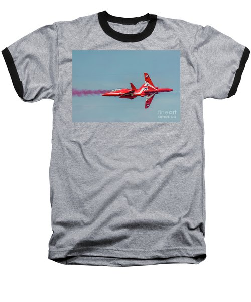Baseball T-Shirt featuring the photograph Red Arrows Crossover by Gary Eason