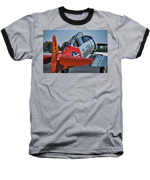 Red At-6 Baseball T-Shirt