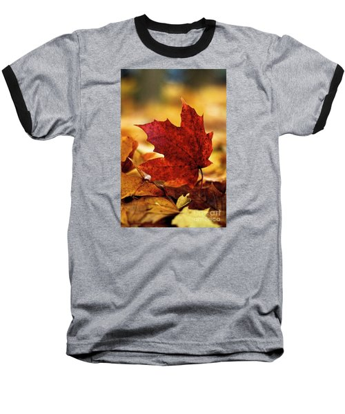 Red Autumn Baseball T-Shirt