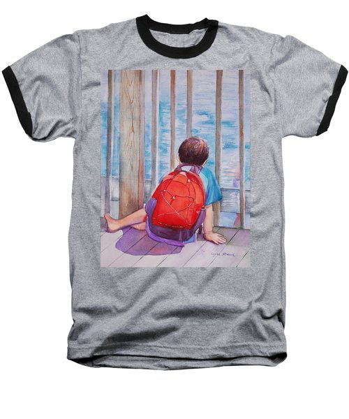 Red Backpack Baseball T-Shirt