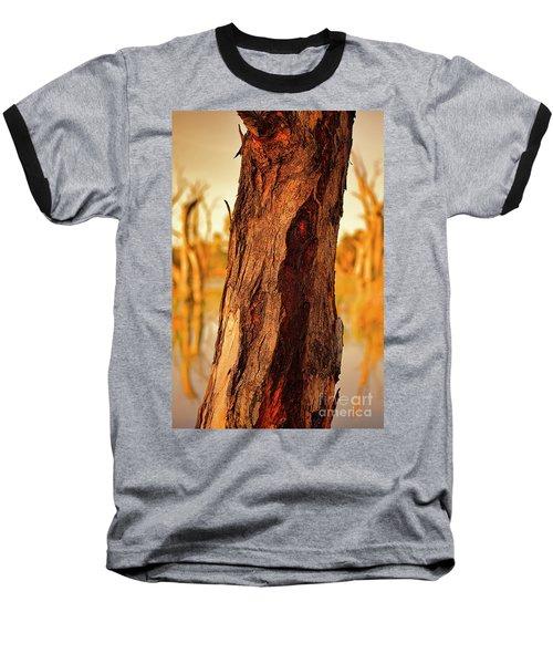 Red Bark Baseball T-Shirt by Douglas Barnard