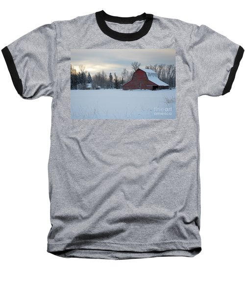 Red Barn At Dawn Baseball T-Shirt