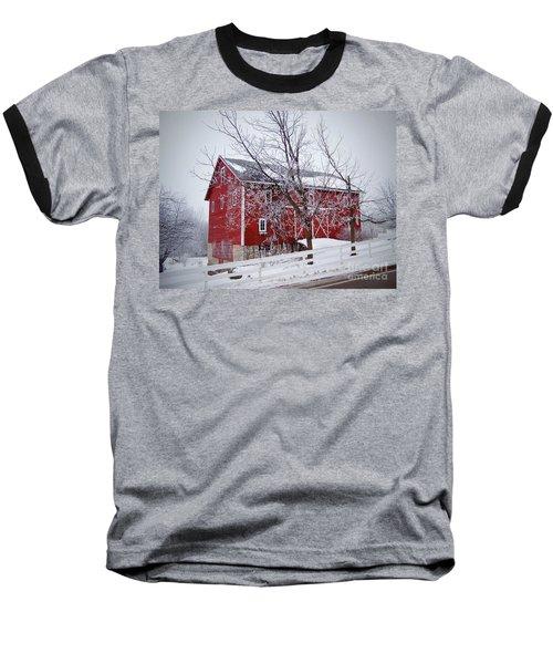 Red Barn Circa 1876 Baseball T-Shirt by Sue Stefanowicz