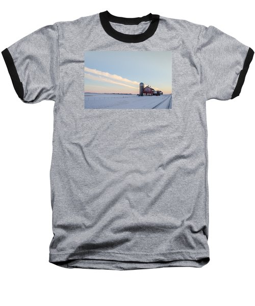 Baseball T-Shirt featuring the photograph Red Barn by Dan Traun