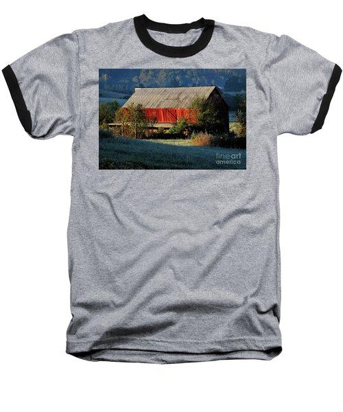 Red Barn Baseball T-Shirt by Douglas Stucky