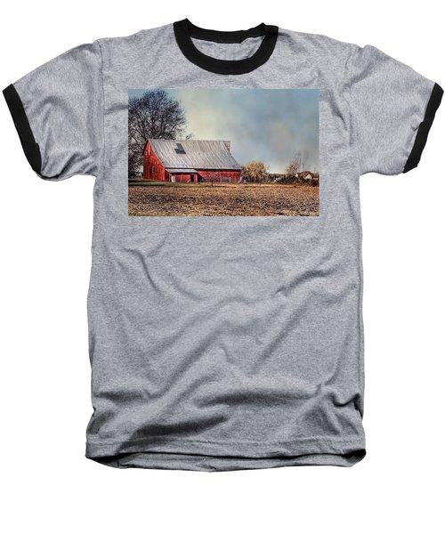 Red Barn In Late Fall Baseball T-Shirt