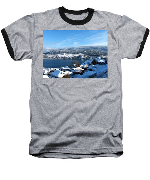 Baseball T-Shirt featuring the photograph Red Barn In The Distance by Will Borden