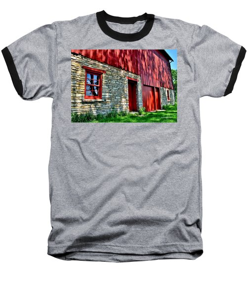 Red Barn In The Shade Baseball T-Shirt