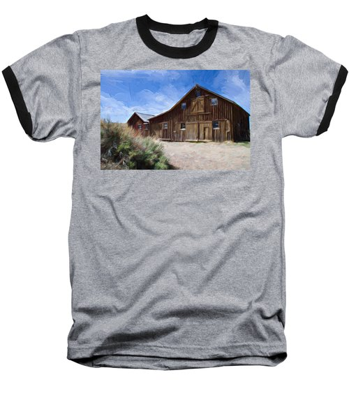 Baseball T-Shirt featuring the photograph Red Barn Of Bodie by Lana Trussell