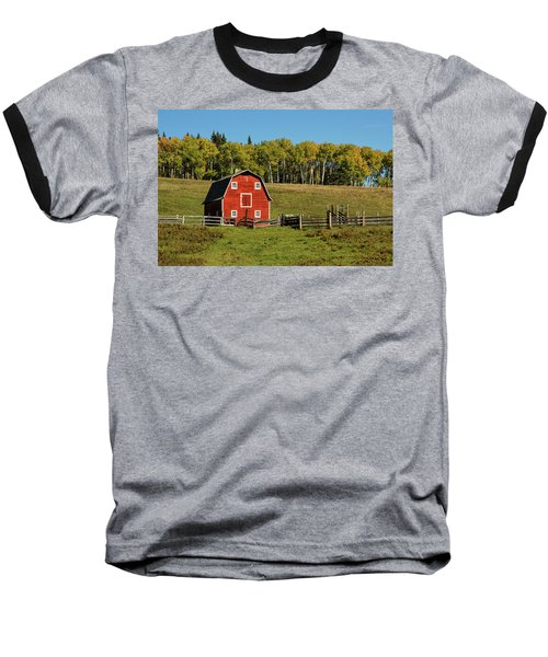 Red Barn On The Hill Baseball T-Shirt