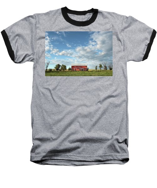 Red Barn On The Prairie Baseball T-Shirt