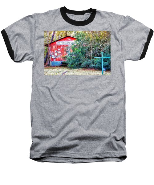 Red Barn With Signs, Heavily Guarded Baseball T-Shirt