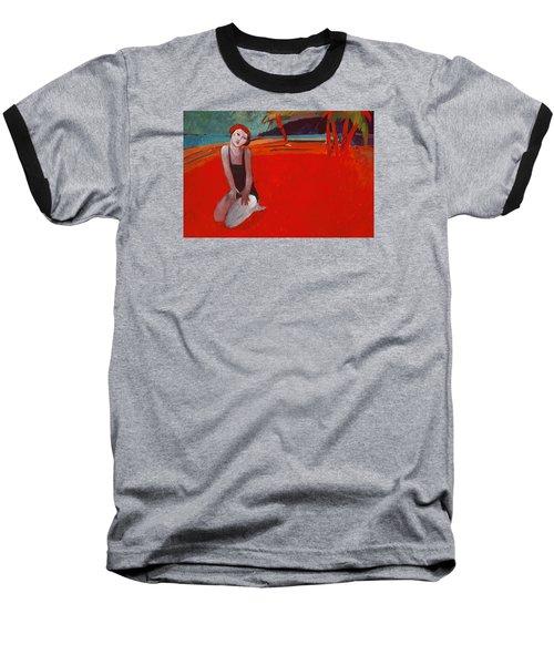 Red Beach Two Baseball T-Shirt