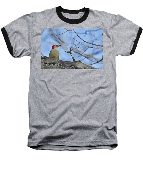Baseball T-Shirt featuring the photograph Red-bellied Woodpecker 1137 by Michael Peychich